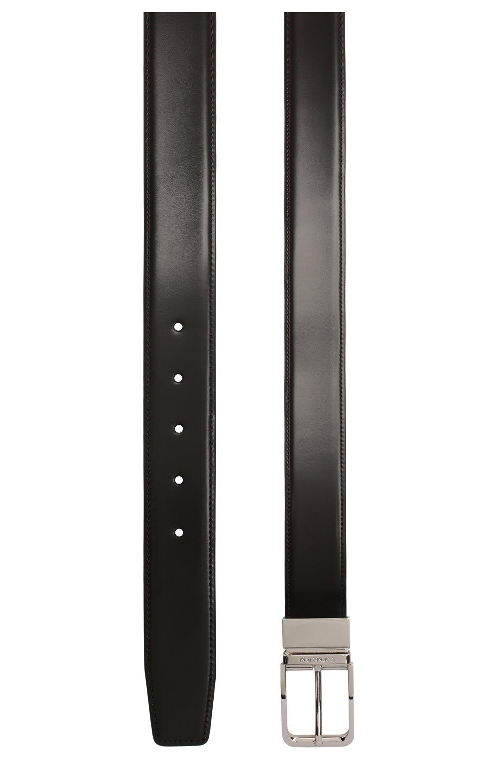 Мужской кожаный ремень CORNELIANI темно-коричневого цвета, арт. 00V305-0020849/00 | Фото 2 (Случай: Формальный)