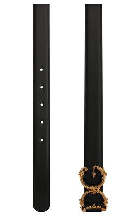 Женский кожаный ремень DOLCE & GABBANA черного цвета, арт. BE1336/AX095/BE1348/AX095   Фото 2