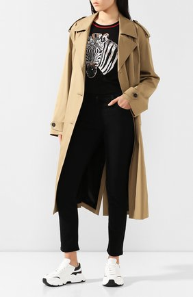 Женские кожаные кроссовки daymaster DOLCE & GABBANA черно-белого цвета, арт. CK1791/AX589 | Фото 2
