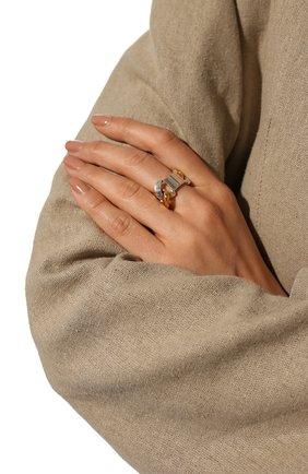Женское серебряное кольцо BOTTEGA VENETA разноцветного цвета, арт. 589307/V507D | Фото 2