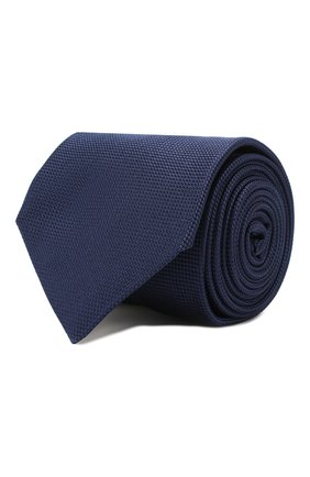 Мужской шелковый галстук CORNELIANI темно-синего цвета, арт. 85U302-0120302/00 | Фото 1