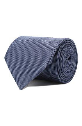 Мужской шелковый галстук CORNELIANI голубого цвета, арт. 85U302-0120302/00 | Фото 1