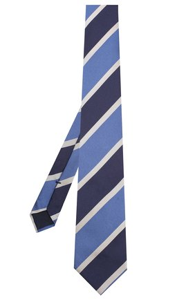Мужской шелковый галстук CORNELIANI синего цвета, арт. 85U302-0120316/00 | Фото 2