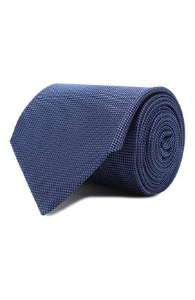 Мужской шелковый галстук CORNELIANI синего цвета, арт. 85U302-0120316/00 | Фото 1