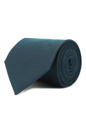 Мужской шелковый галстук CORNELIANI бирюзового цвета, арт. 85U302-0120320/00 | Фото 1