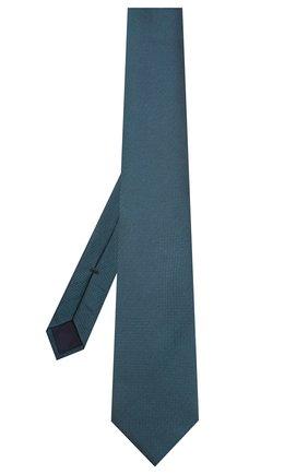 Мужской шелковый галстук CORNELIANI бирюзового цвета, арт. 85U302-0120320/00 | Фото 2