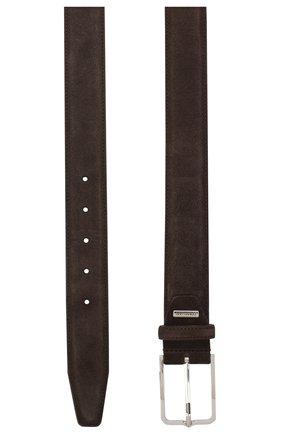 Мужской замшевый ремень CORNELIANI темно-коричневого цвета, арт. 85V301-0120822/00 | Фото 2