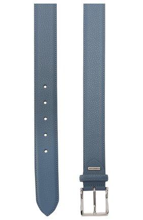 Мужской кожаный ремень CORNELIANI голубого цвета, арт. 85V316-0120826/00 | Фото 2