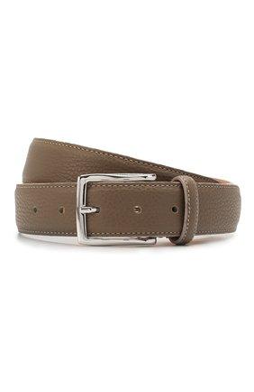 Мужской кожаный ремень CORNELIANI темно-бежевого цвета, арт. 85V316-0120826/00 | Фото 1