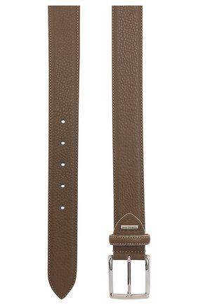 Мужской кожаный ремень CORNELIANI темно-бежевого цвета, арт. 85V316-0120826/00 | Фото 2
