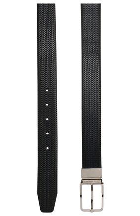 Мужской кожаный ремень CORNELIANI темно-синего цвета, арт. 85V318-0120825/00 | Фото 2