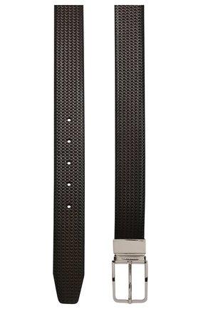 Мужской кожаный ремень CORNELIANI темно-коричневого цвета, арт. 85V318-0120825/00 | Фото 2