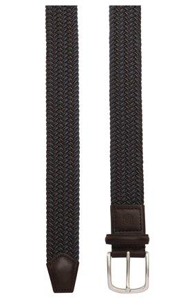 Мужской текстильный ремень CORNELIANI темно-серого цвета, арт. 85V356-0120828/00 | Фото 2