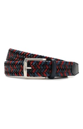 Мужской кожаный ремень CORNELIANI красного цвета, арт. 85V357-0120801/00 | Фото 1