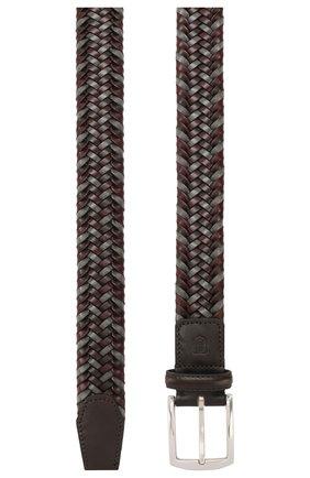 Мужской кожаный ремень CORNELIANI бордового цвета, арт. 85V357-0120801/00 | Фото 2