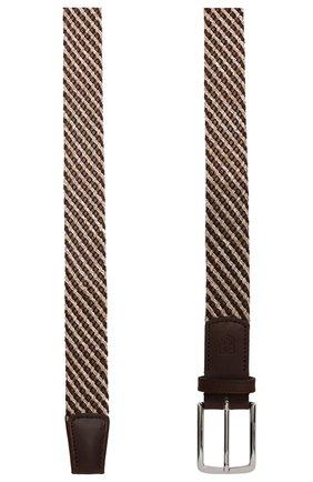 Мужской комбинированный ремень CORNELIANI коричневого цвета, арт. 85V363-0120853/00 | Фото 2