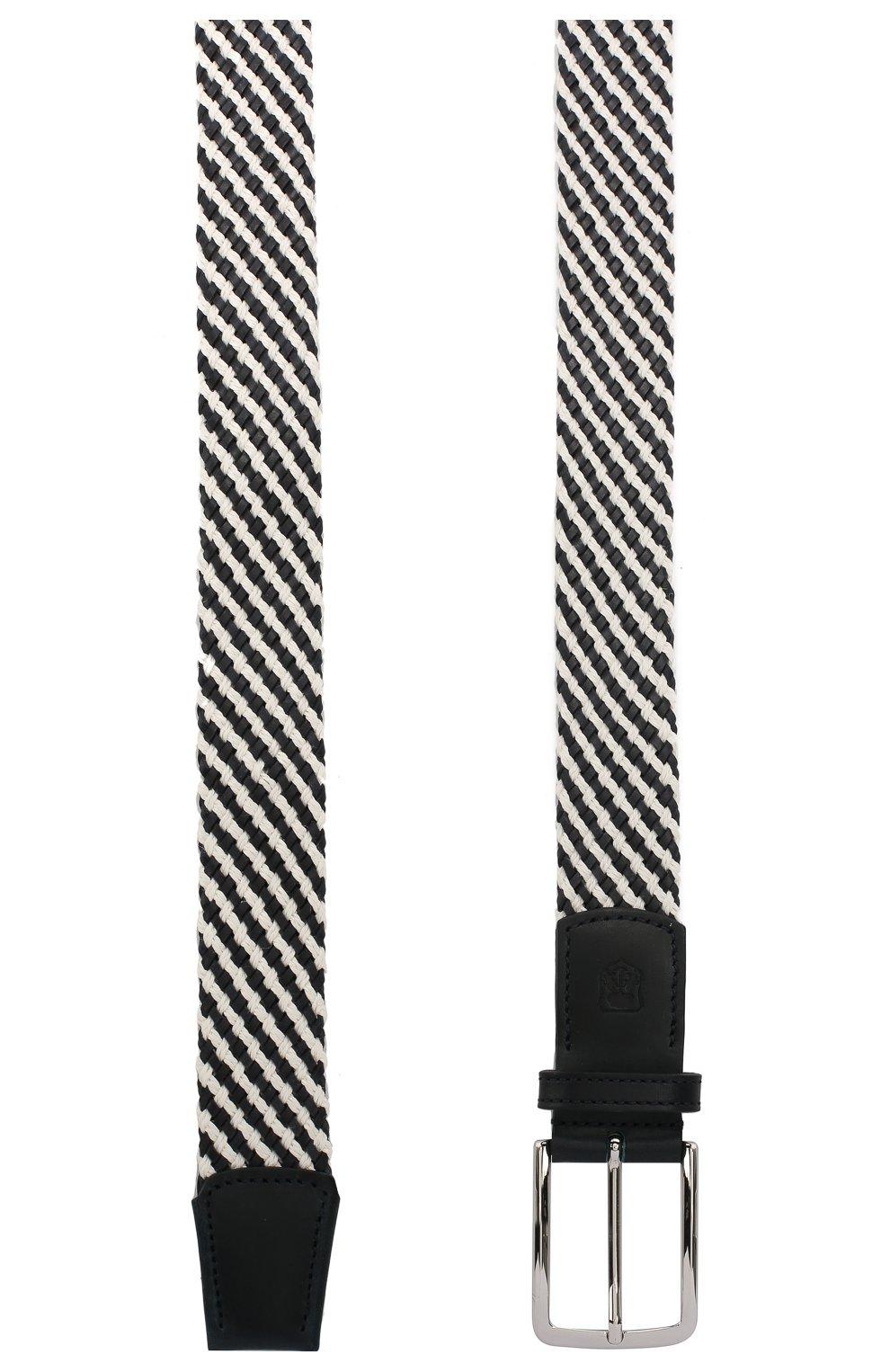 Мужской комбинированный ремень CORNELIANI черно-белого цвета, арт. 85V363-0120853/00   Фото 2