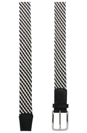 Мужской комбинированный ремень CORNELIANI черно-белого цвета, арт. 85V363-0120853/00 | Фото 2