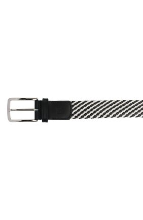 Мужской комбинированный ремень CORNELIANI черно-белого цвета, арт. 85V363-0120853/00   Фото 3