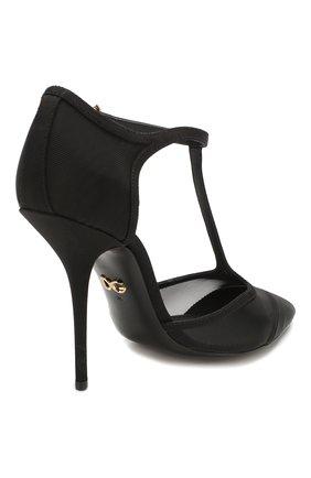 Женские текстильные туфли cardinale DOLCE & GABBANA черного цвета, арт. CD1515/AX975 | Фото 4