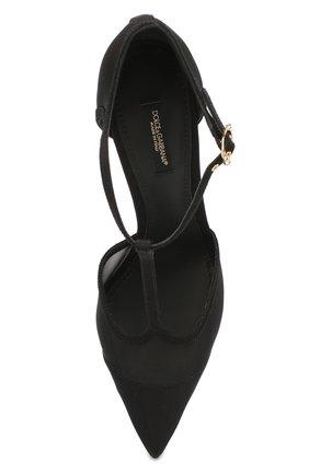 Женские текстильные туфли cardinale DOLCE & GABBANA черного цвета, арт. CD1515/AX975 | Фото 5