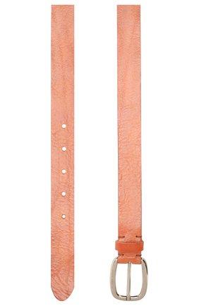 Женский кожаный ремень GOLDEN GOOSE DELUXE BRAND коричневого цвета, арт. G36WA894.A2 | Фото 2