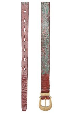 Женский кожаный ремень GOLDEN GOOSE DELUXE BRAND темно-коричневого цвета, арт. G36WA892.A1 | Фото 2