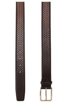 Мужской кожаный ремень SANTONI темно-коричневого цвета, арт. CM35NC003B91HGSIT60 | Фото 2