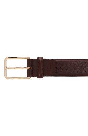 Мужской кожаный ремень SANTONI красного цвета, арт. CM35NC003B91HGSIR47 | Фото 3