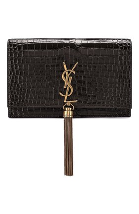 Женская сумка kate SAINT LAURENT темно-серого цвета, арт. 452159/DND1W | Фото 1
