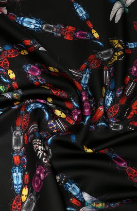 Женский шелковый платок ALEXANDER MCQUEEN черного цвета, арт. 619457/3001Q | Фото 2