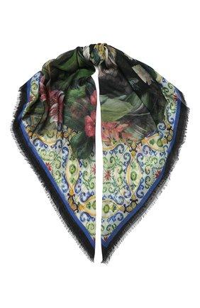 Женский платок из смеси кашемира и шелка DOLCE & GABBANA разноцветного цвета, арт. FS247A/FP3CN | Фото 1