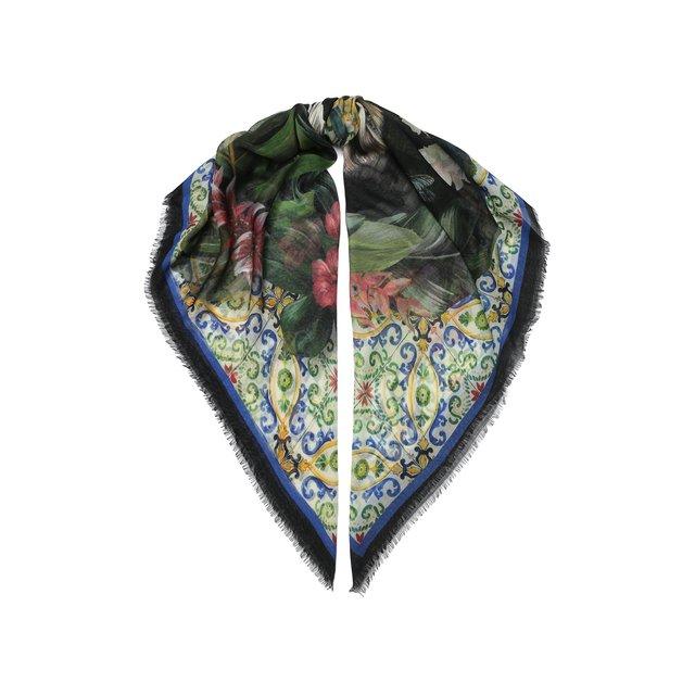Платок из смеси кашемира и шелка Dolce & Gabbana