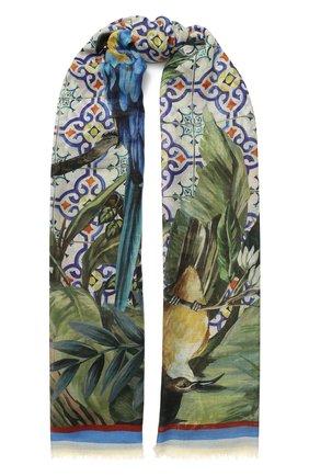 Мужские шарф DOLCE & GABBANA зеленого цвета, арт. FS184A/FP3CT | Фото 1