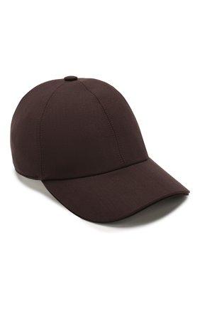 Мужской шерстяная бейсболка ZEGNA COUTURE коричневого цвета, арт. Z7I50/B7J | Фото 1