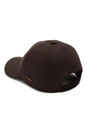 Мужской шерстяная бейсболка ZEGNA COUTURE коричневого цвета, арт. Z7I50/B7J | Фото 2