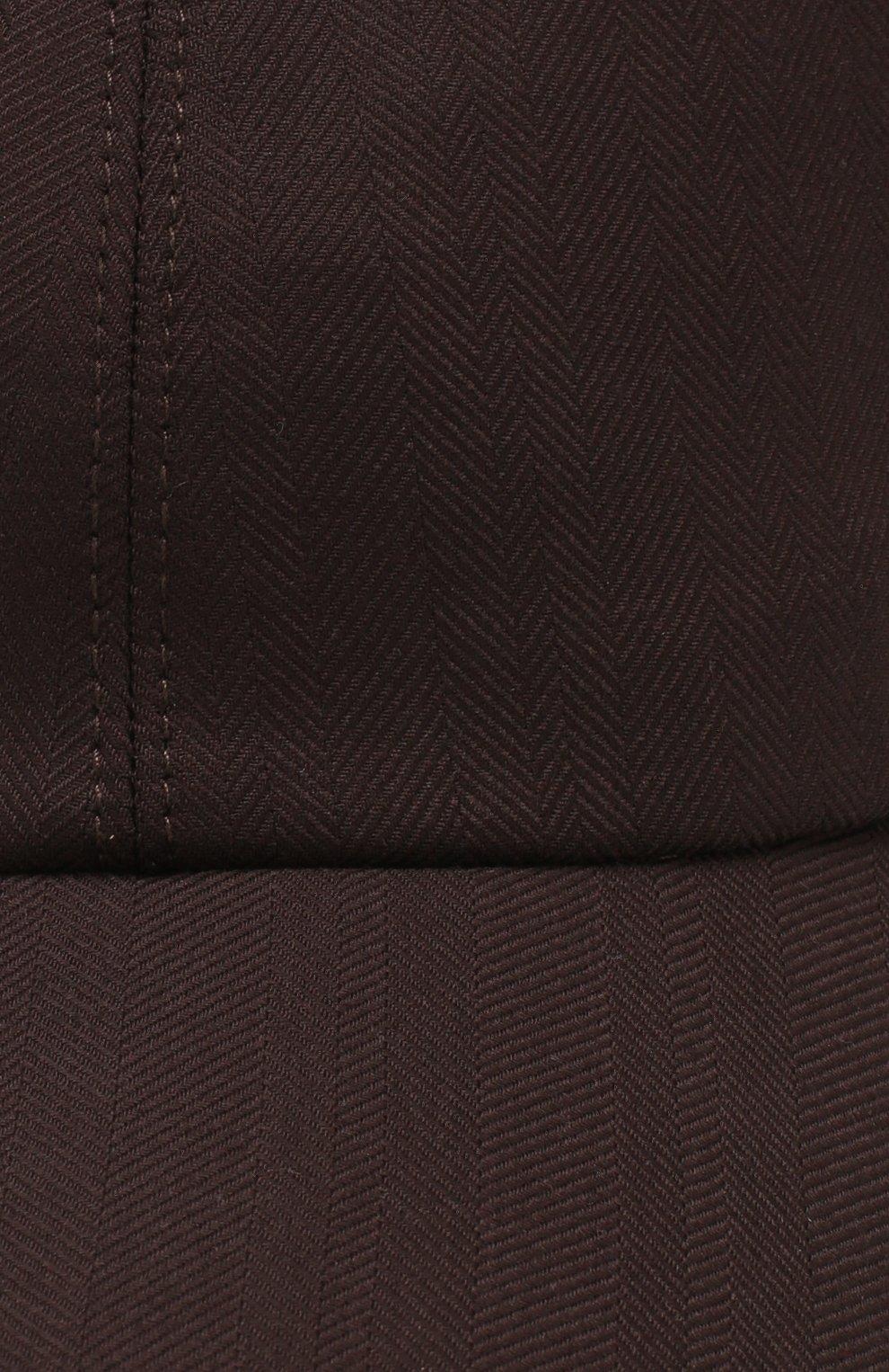 Мужской шерстяная бейсболка ZEGNA COUTURE коричневого цвета, арт. Z7I50/B7J | Фото 3