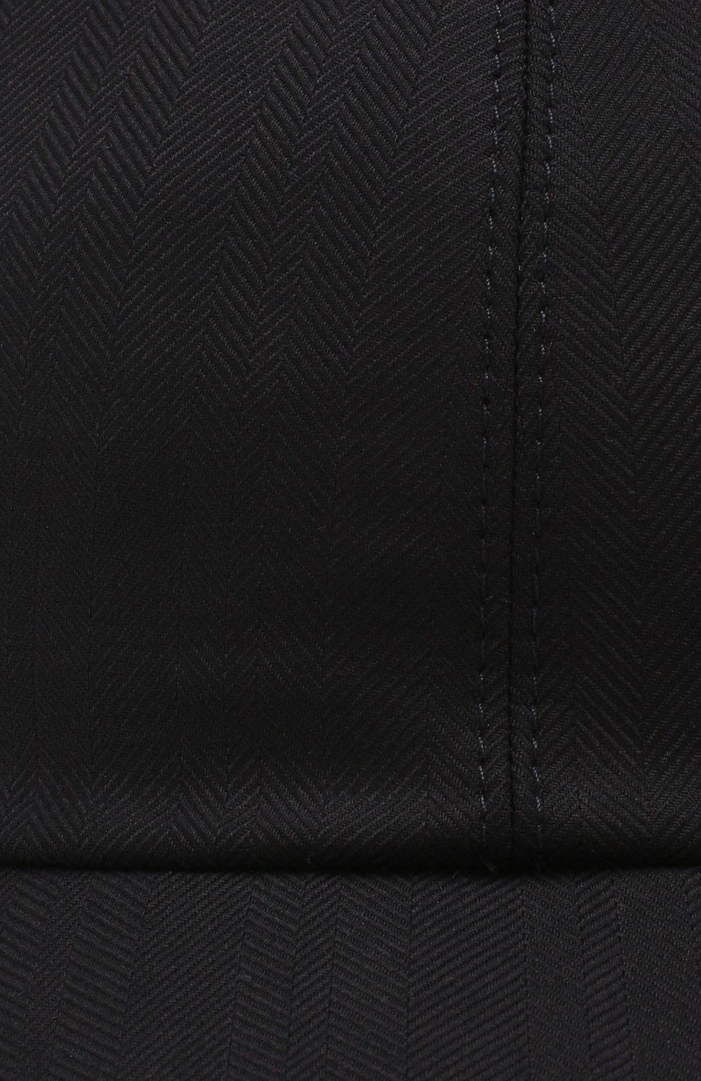 Мужской шерстяная бейсболка ZEGNA COUTURE темно-синего цвета, арт. Z7I50/B7J | Фото 3