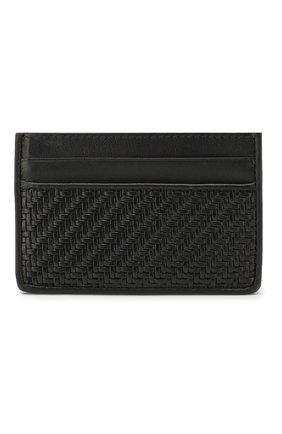 Мужской кожаный футляр для кредитных карт ERMENEGILDO ZEGNA черного цвета, арт. E1566P-LHPTA | Фото 1