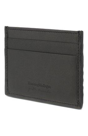 Мужской кожаный футляр для кредитных карт ERMENEGILDO ZEGNA темно-синего цвета, арт. E1139P-LHPGR | Фото 2