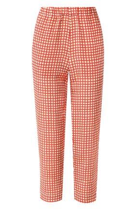 Женские шелковые брюки MARNI оранжевого цвета, арт. PAMA014A02/TSF32   Фото 1