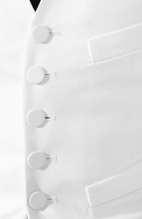 Женский жилет из смеси хлопка и шелка DSQUARED2 белого цвета, арт. S75FB0122/S36606 | Фото 5
