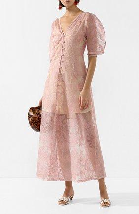 Женское шелковое платье CULT GAIA светло-розового цвета, арт. 50040E02 DSP | Фото 2