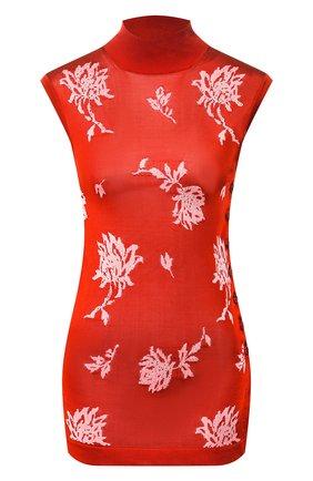 Женский топ из вискозы CHLOÉ оранжевого цвета, арт. CHC20SMH62650   Фото 1