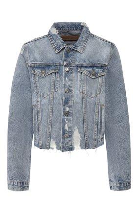 Женская джинсовая куртка GRLFRND голубого цвета, арт. GF40128501209 | Фото 1