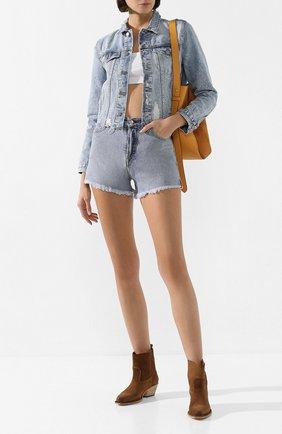 Женская джинсовая куртка GRLFRND голубого цвета, арт. GF40128501209 | Фото 2