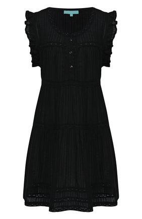 Женское хлопковая туника MELISSA ODABASH черного цвета, арт. REBEKAH   Фото 1