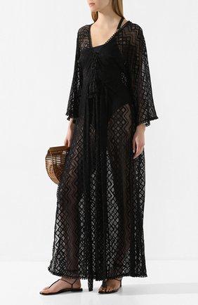 Женское туника MELISSA ODABASH черного цвета, арт. NINA   Фото 2