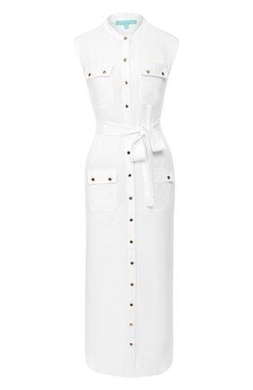 Женское платье из вискозы MELISSA ODABASH белого цвета, арт. CHARLENE   Фото 1