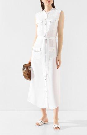 Женское платье из вискозы MELISSA ODABASH белого цвета, арт. CHARLENE   Фото 2